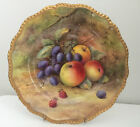 Royal Worcester Hand Painted Fruit Plate Signed Thomas Lockyer
