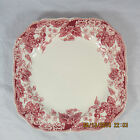 Johnson Brothers Strawberry Fair salad plate square pink white berries flowers
