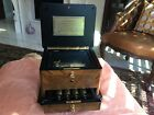 Reuge 50-Note Swiss Music Box - 5 Cylinders - Burlwood Inlay