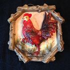Vintage Tilso Japan Ceramic Rooster Wall Plaque Rustic Kitchen Decor Mid-Century