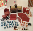 Vintage Marx 1960-70s Fort Apache Play Set Partial w/ Pioneers, Indians