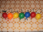 Vintage Blinky Balloon Blowmolds Party String Lights for RV Camper Tiki Patio