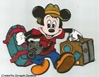DISNEY VACATION Mickey with Luggage Premade Scrapbook Page Paper Piecing SSFFDeb