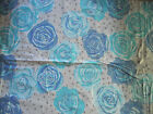 OLIVE ROSE - ICE BLUE VALORI WELLS FREE SPIRIT HOME DEC FABRIC COTTON BTY