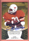 2014 Exquisite Yellow Spectrum #27 Earl Campbell On Card Autograph #1 5 TEXAS