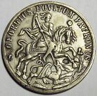Saint George Slaying Dragon Rare Original Type Counterstamp Ship Good Luck Token