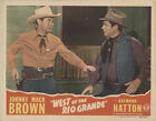 West of the Rio Grande 1944 Original Movie Poster Action Western