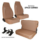 Black Mountain Jeep CJ Wrangler YJ 76 95 Complete Set Seat Spice Denim Reclining