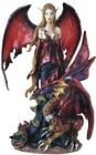 Fairy Pixie with Dragon Fantasy Figurine Figure Decoration Statue