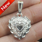 Vintage Women 925 Sterling Silver Love Heart Pendant Charm for Necklace Jewelry