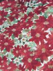 CHRISTMAS FLOWERS BY DAVID TEXTILES FLEECE PRINTED FABRIC SOLD BY YARD 972