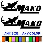 MAKO MARINE BOAT STICKER DECAL FISHING ANY SIZE OR COLOR AVAILABLE