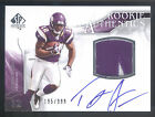 2009 SP Authentic #397 Percy Harvin 2 Color Patch On Card Autograph RC #195 999