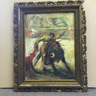 Original Oil Painting by Paulo Picasso's Friend - 19th Century Bull Fighter