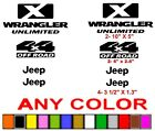 JEEP WRANGLER UNLIMITED DECALS STICKERS  ^^ANY COLOR^^ 4X4
