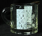 VINTAGE CREAMER Blowing Leaves Autumn Rain Storm Design White Clear Glass Gold