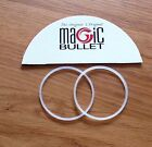 2  X Gaskets/Seal~Magic Bullet/Amazing Bullet Processor/Blender~ IN STOCK ~