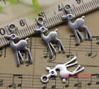 2060100pc Retro Jewelry Making Diy Lovely Deer Alloy Charms Pendant 21x11mm