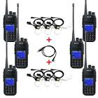 6x TYT MD-380 UHF 5W Digital 2-Way Ham Radio Walkie Talkie+6x Earpiece+USB Cable