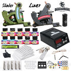 Complete Tattoo Kit 2 Machine Guns USA Color inks Power Supply Needles HW 9DD 13