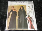 Medieval Goth Gown, Hooded Cape Pattern McCalls 2810 Sz 10-12-14  UNCUT