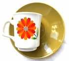 J&G Meakin England 2 English china Dahlia 1950s coffee cups and saucers vgc