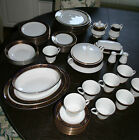 BEAUTIFUL lot Noritake GRENOBLE 3392 Service for 8 - 56 pcs. Gold Cobalt Blue
