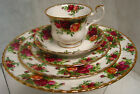 5 PC ROYAL ALBERT OLD COUNTRY ROSE PLACE SETTING PLATES CUP & SAUCER ENGLAND