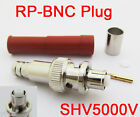 100x RP-BNC Male Female Pin High Voltage Power Audio Connector SHV5000V for RG6