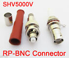 10sets SHV 5000V RP BNC Male + Female High Voltage Power Audio Connector for RG6