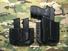 Black Carbon Fiber Kydex Light Holster SIG P226 Streamlight TLR 1 w Mag Carrier