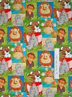 Fabric Traditions - Jungle Babies Patty Reed Safari Animal Patch Elephant 1.77Yd