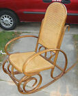 ANTIQUE VINTAGE THONET? CANE BENTWOOD ROCKER ROCKING CHAIR MARKED See Photos