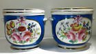 A pair of French Sevres Style Hand Painted Porcelain Cache Pots 20th century