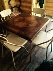 VINTAGE  FOLDING CHAIRS and Table RETRO METAL CARD TABLE  RARE Samson