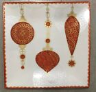 222 Fifth Constantina Red Dinner Plates Set Of 4 Christmas Ornament