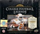 (1) 2011 Upper Deck College Football Legends Factory Sealed Hobby Box (3 Autos)