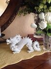 Vintage White Ceramic Or Porcelain Chinese Dragon Figurine By Fitz And Floyd.