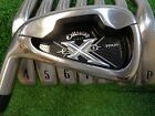 LEFT HANDED CALLAWAY X 20 TOUR 3 PW IRONS PROJECT X 60 FLIGHTED STIFF USED LH