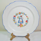 VTG Shabby Cottage Chic W.S. George Dutch Holland Girl Lido Plate Platter RARE