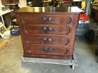 Antique Eastlake / Victorian Era Walnut Chest of Drawers w/ Grape Carved Handles