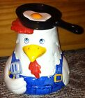 Vintage Barnyard Chicken Clay Art Cookie Jar 1994 Hand Painted