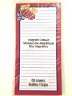 Flowers Fruit Red Border/April Cornell Magnetic Note Pad Lined List 60 sheets
