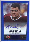 2014 Panini Hot Rookies Blue #410 Mike Evans Rookie Autograph Card #54 75