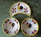 EARLY PROVINCIAL CRESCENT SALAD PLATE CEREAL SOUP BOWL PY UCAGCO ROOSTER