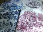 Lot of 4 KRAVET  French Country Toile Cotton Fabric Samples  25