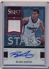 2012-13 12-13 PANINI SELECT BLAKE GRIFFIN AUTOGRAPH JERSEY #170 199 BV$60 RARE