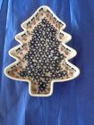 Polish pottery stoneware Boleslawiec xmas tree dish Ornaments