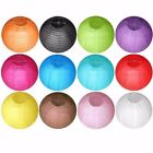 10 12 Round Multicolor Chinese Paper Lanterns for Weddings Home Decor Parties