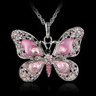 Crystal Rhinestone Charm Pendant Silver Chain Gift Necklace New Women Jewelry